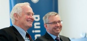 The Rt. Hon. David Johnston and Prof. Stephen Toope/photo by Martin Dee