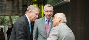 Lto R: HRH The Duke of York, UBC President and Vice-Chancellor Professor Stephen J. Toope, Dr. Djavad Mowafaghian.