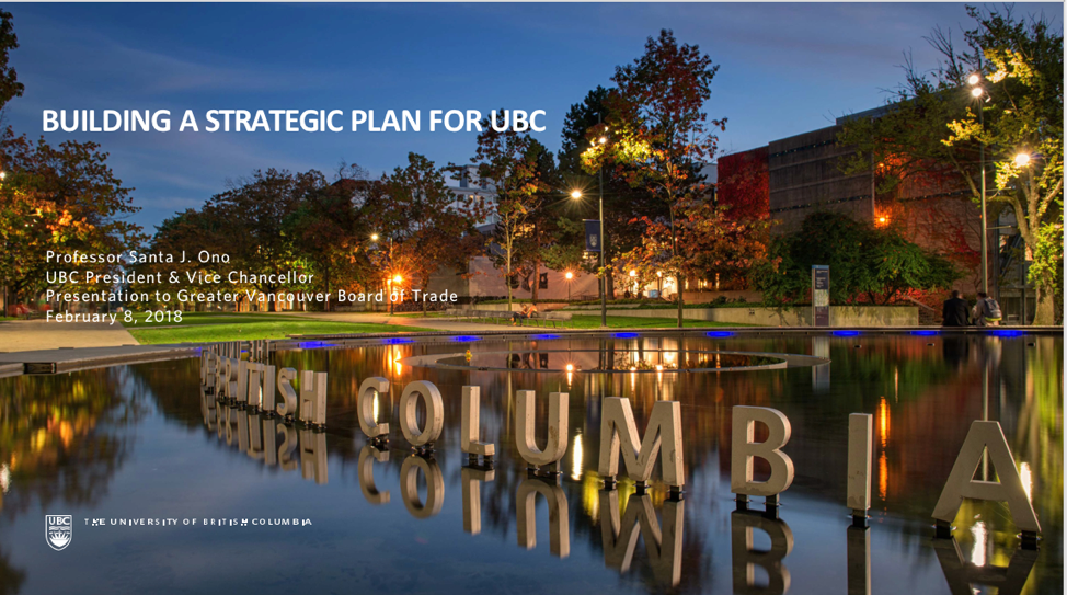 inspire  building a strategic plan for ubc
